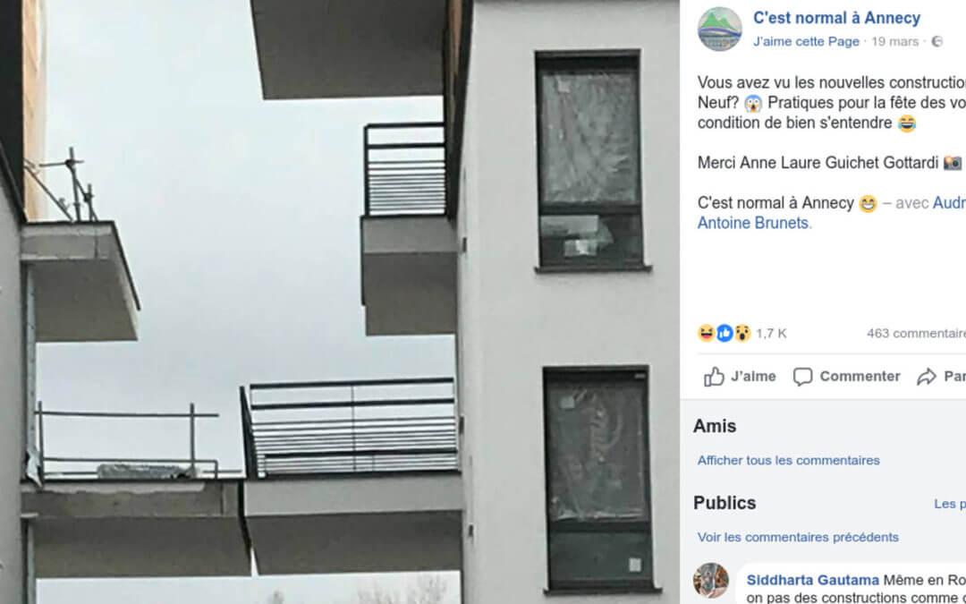 Pression immobilière ? Collons donc les balcons