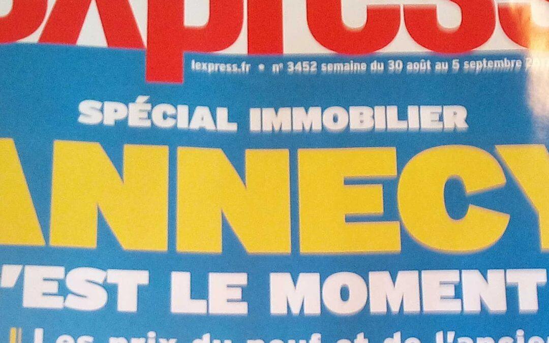 L'Express spécial Immobilier à Annecy